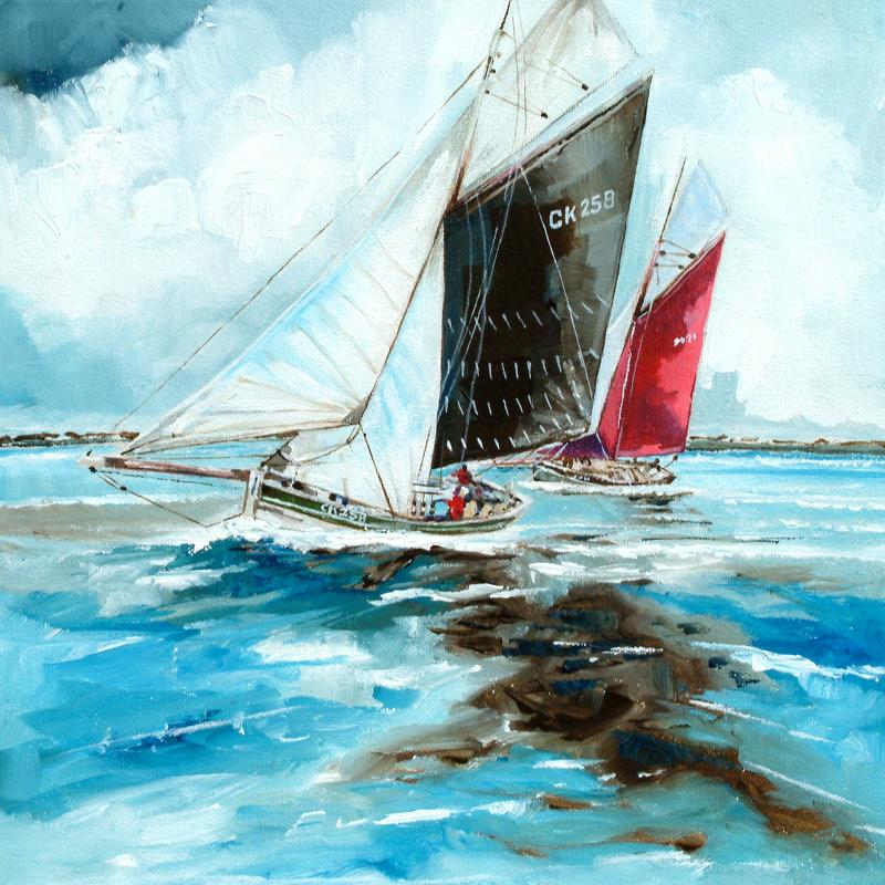 The Racing Barges | Original Painting | Stuart Roy
