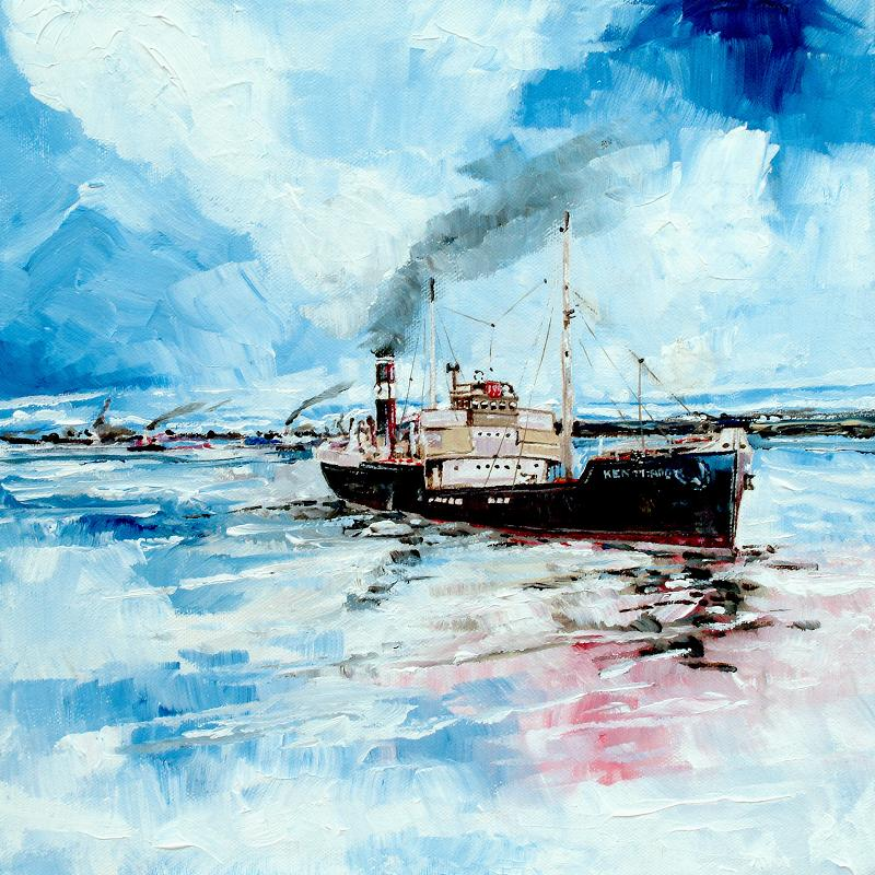 The Steamer  Painting
