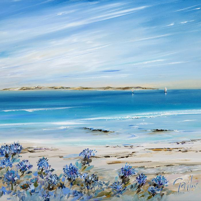 Agapanthus on Tresco – print