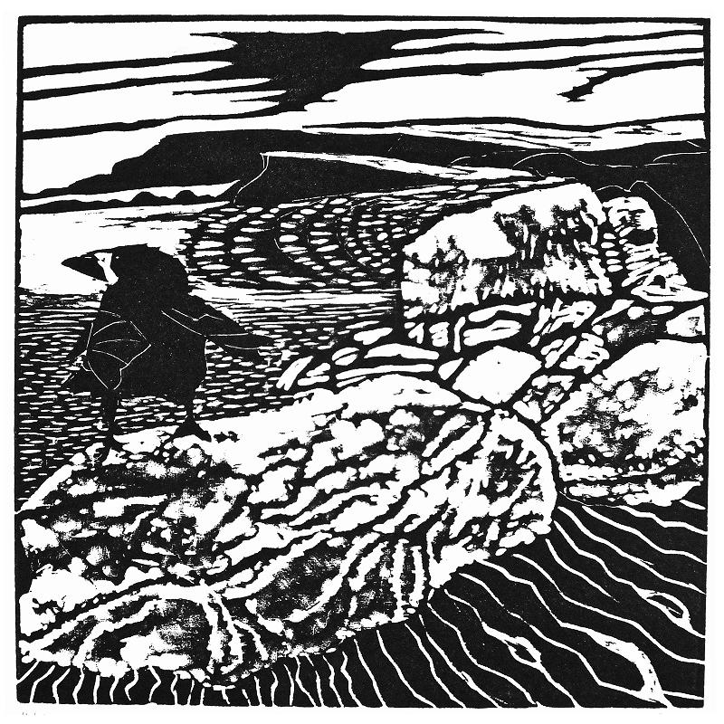 Atlantic Edge – Woodcut Print