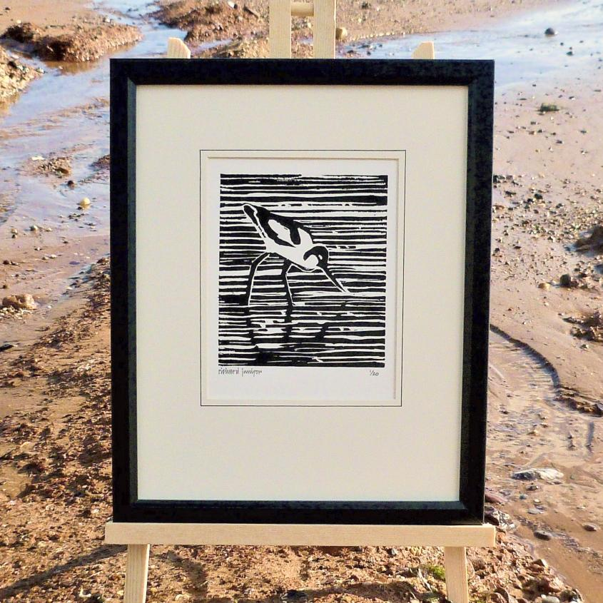 Avocet Linocut Print | Limited Edition