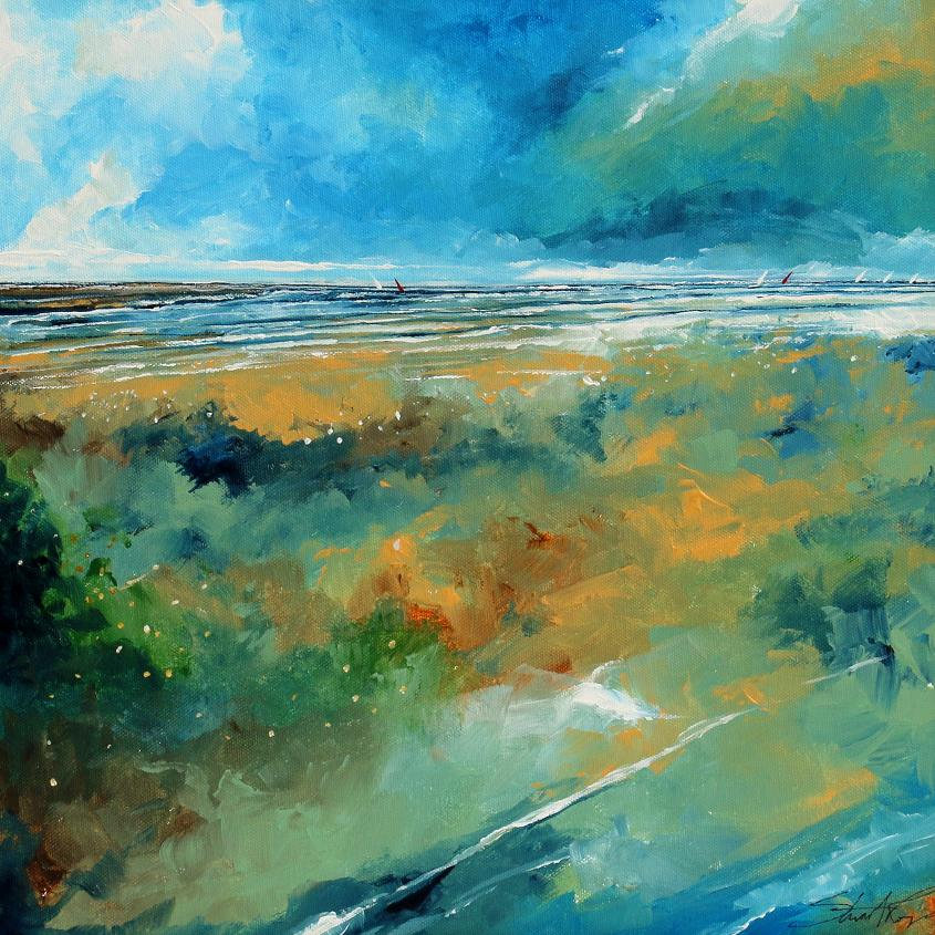 Beach and Sea ll | Original Painting | Stuart Roy