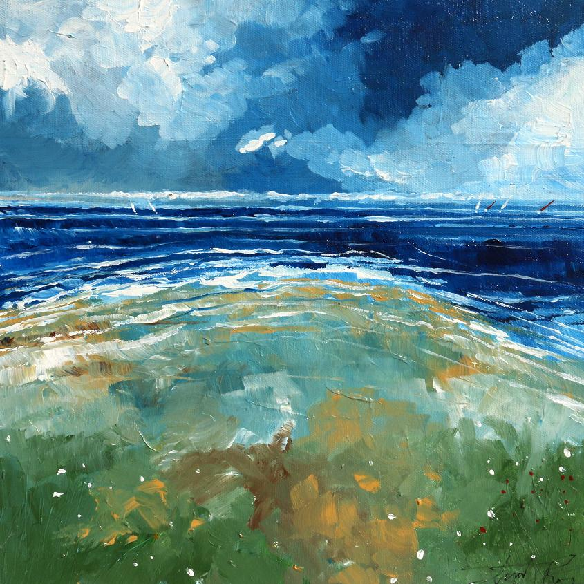 Beach and Sea - Painting