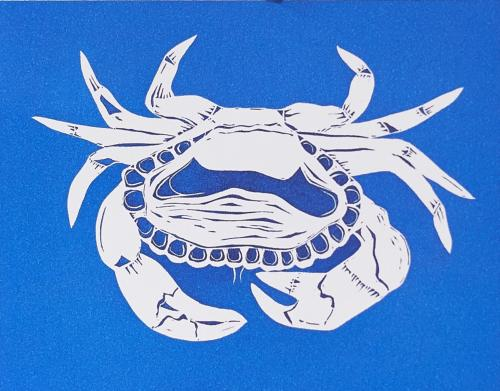 Blue Crab Coastal Card