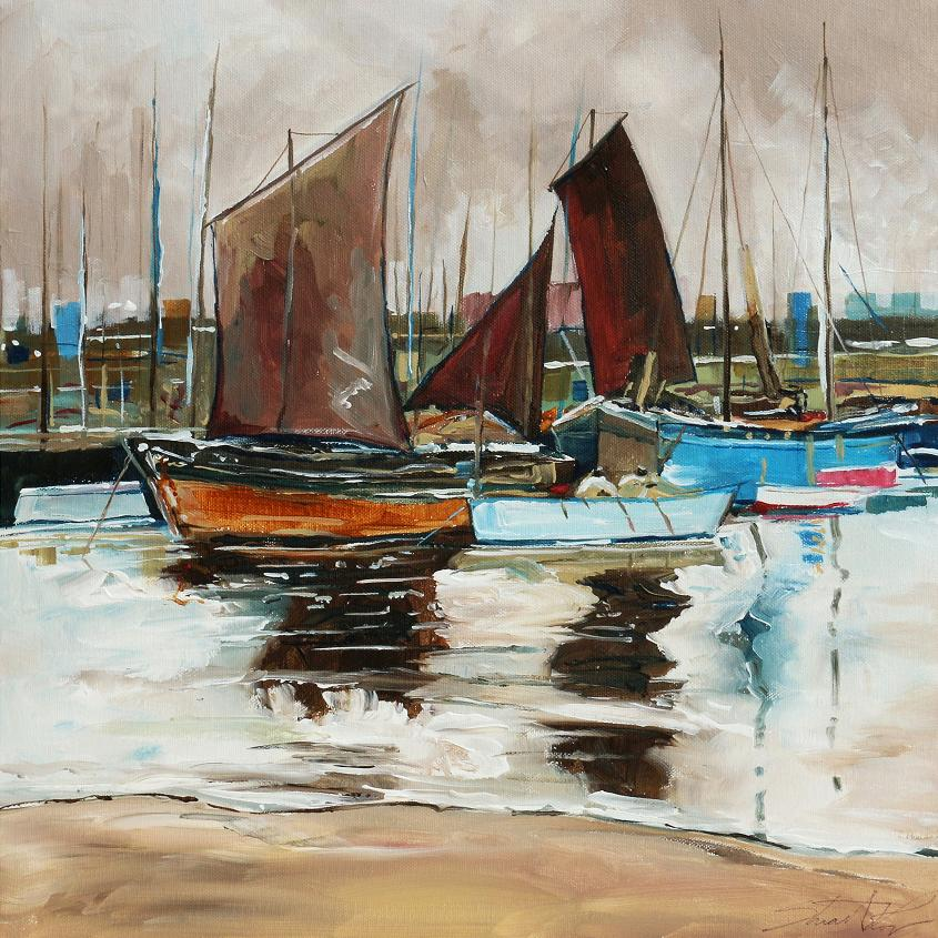 Boats in Port – Painting