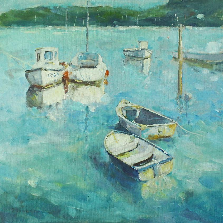 Boats on Moorings - print
