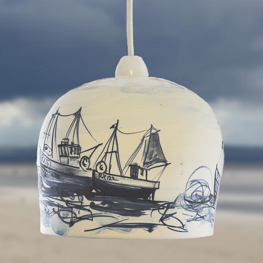 Ceramic Pendant Light – Boat Design