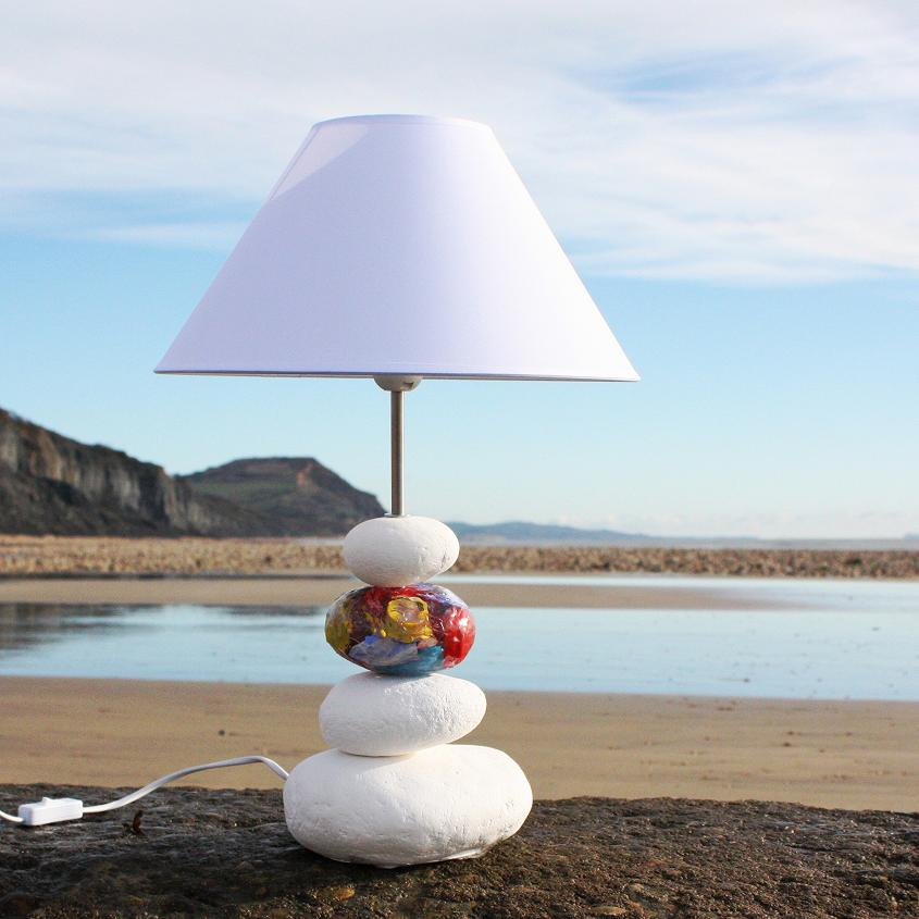 Clean Beach Pebble Lamp