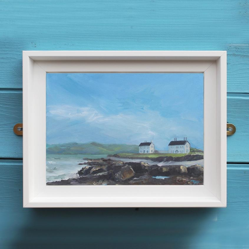 Coastguards Cottages - painting