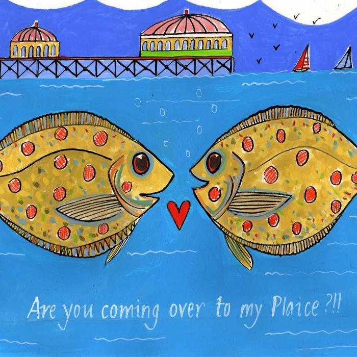 Come On Over To My Plaice | Signed Art Print | Andrew Ruffhead