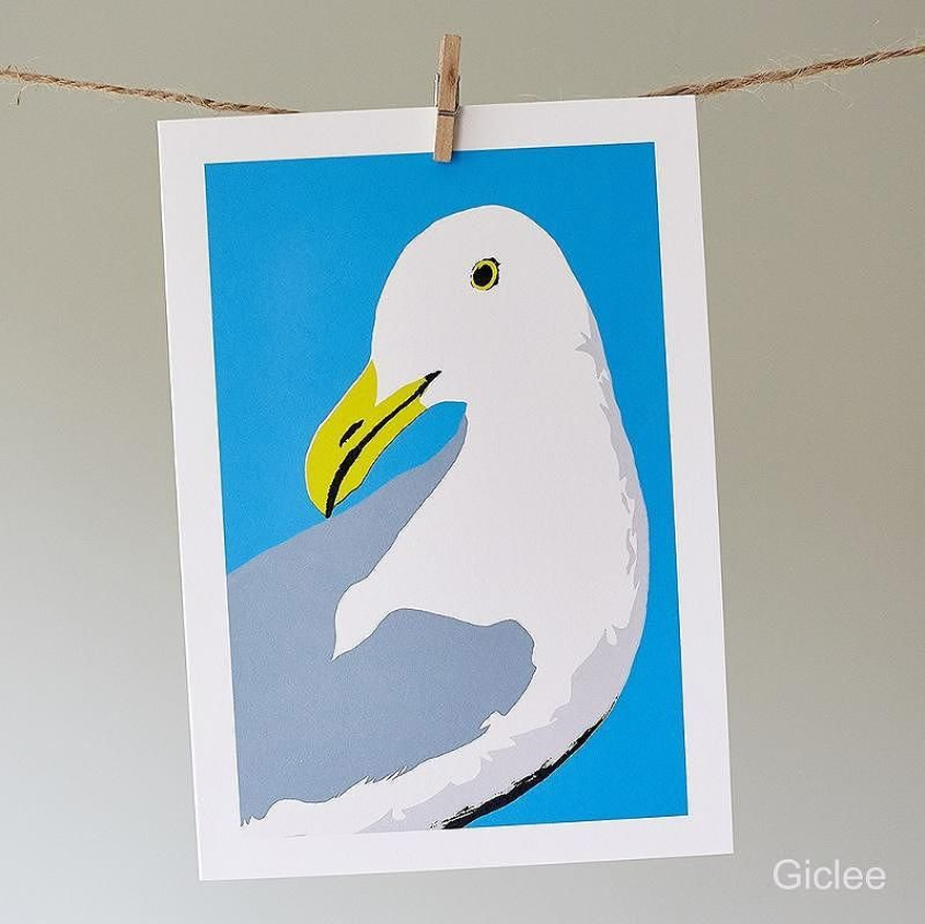 Douglas the Seagull Print | Sophie Mutter