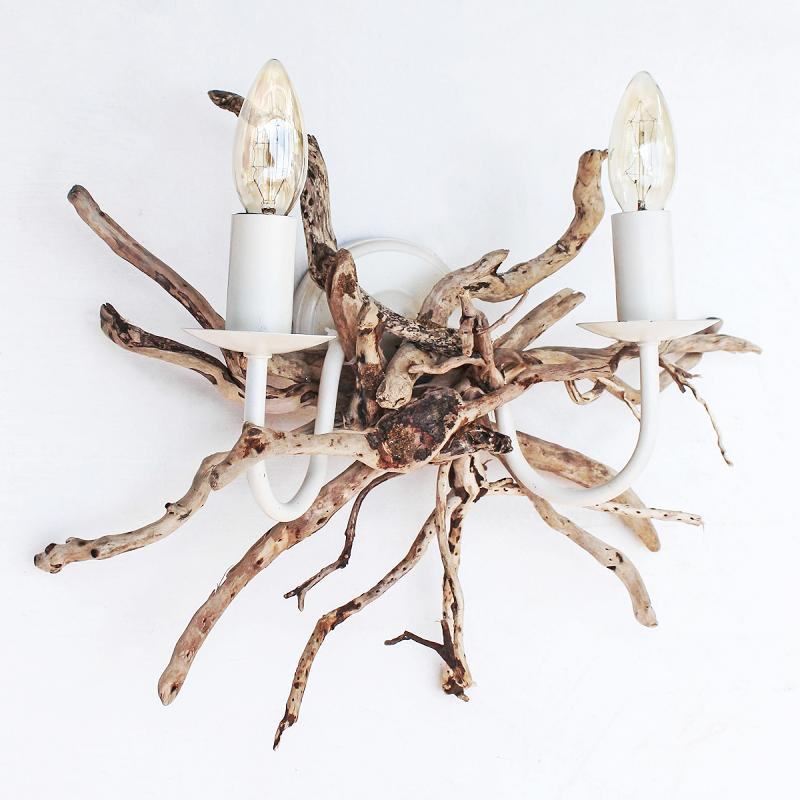 Driftwood Double Wall Light