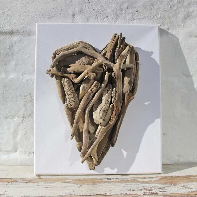 Driftwood Heart Canvas