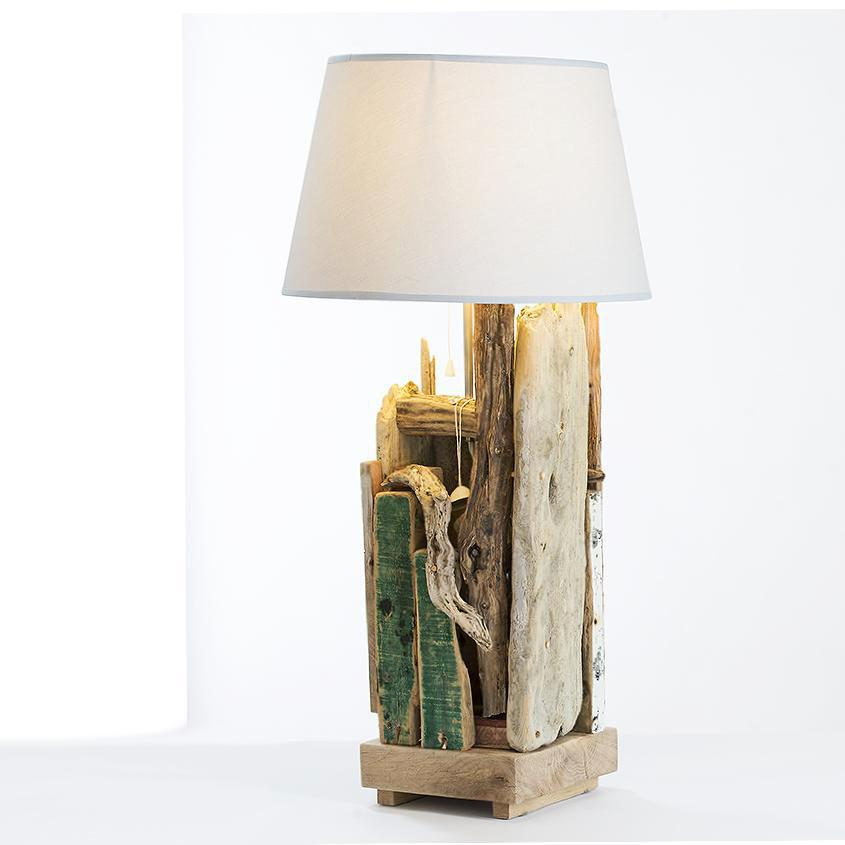Driftwood Plank Table Lamp