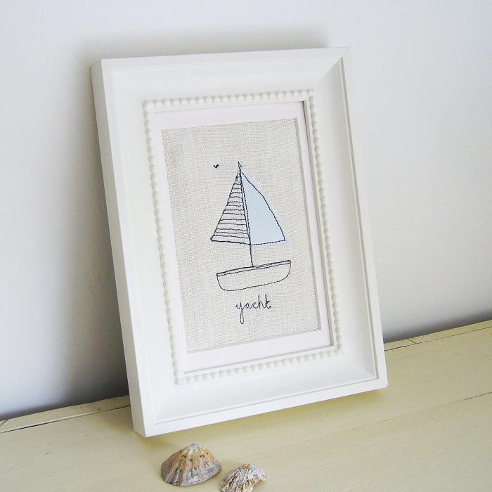 Embroidered Yacht Picture