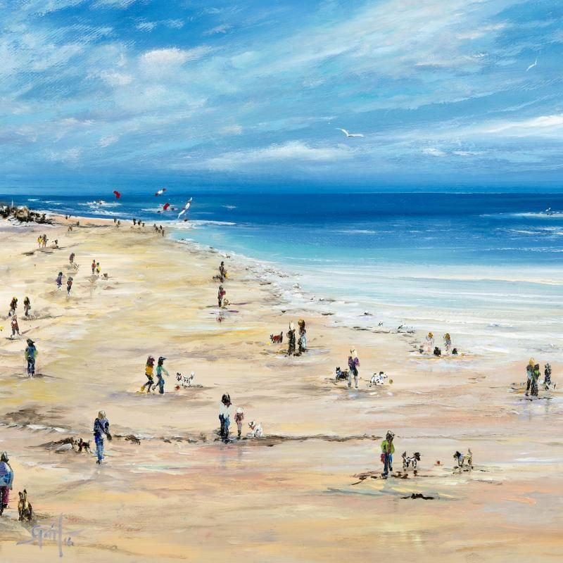 Exmouth Beach - print