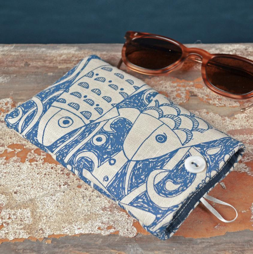 Fish Design Glasses Case | Jill Pargeter