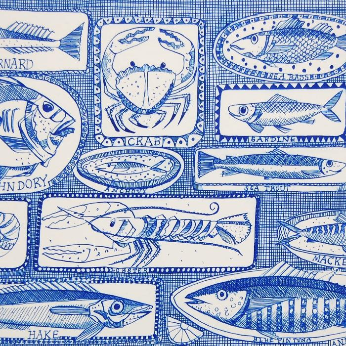Fishes on Dishes - Signed Print