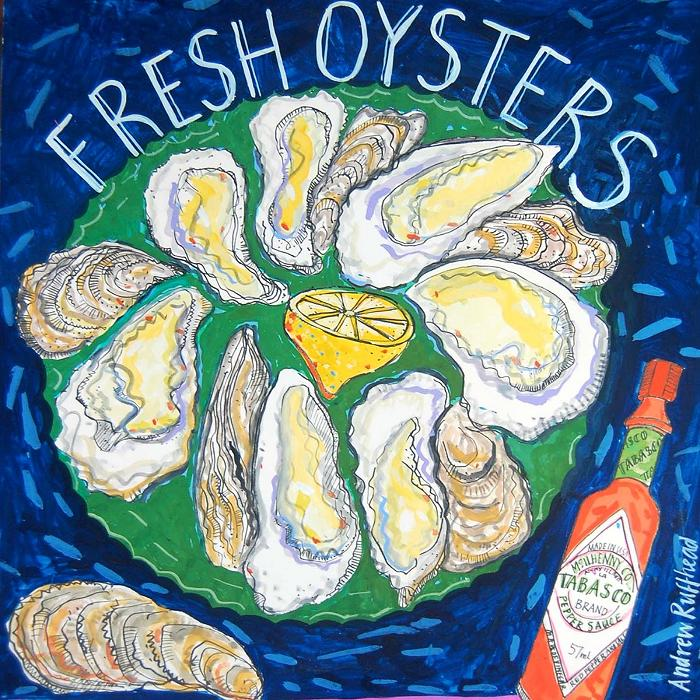 Fresh Oysters - Signed Print