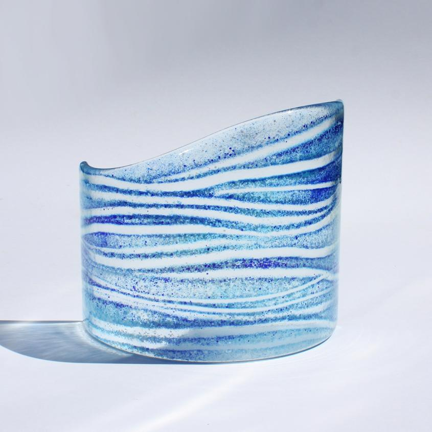 Fused Glass Wave | Sun Catcher | Sally Kent