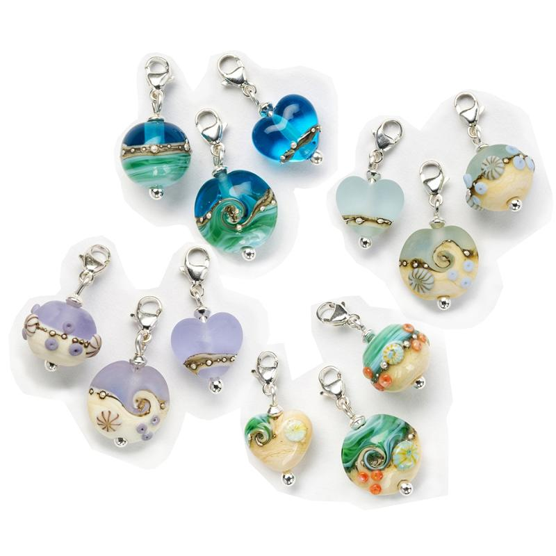 Glass Bracelet Charms | Julie Fountain