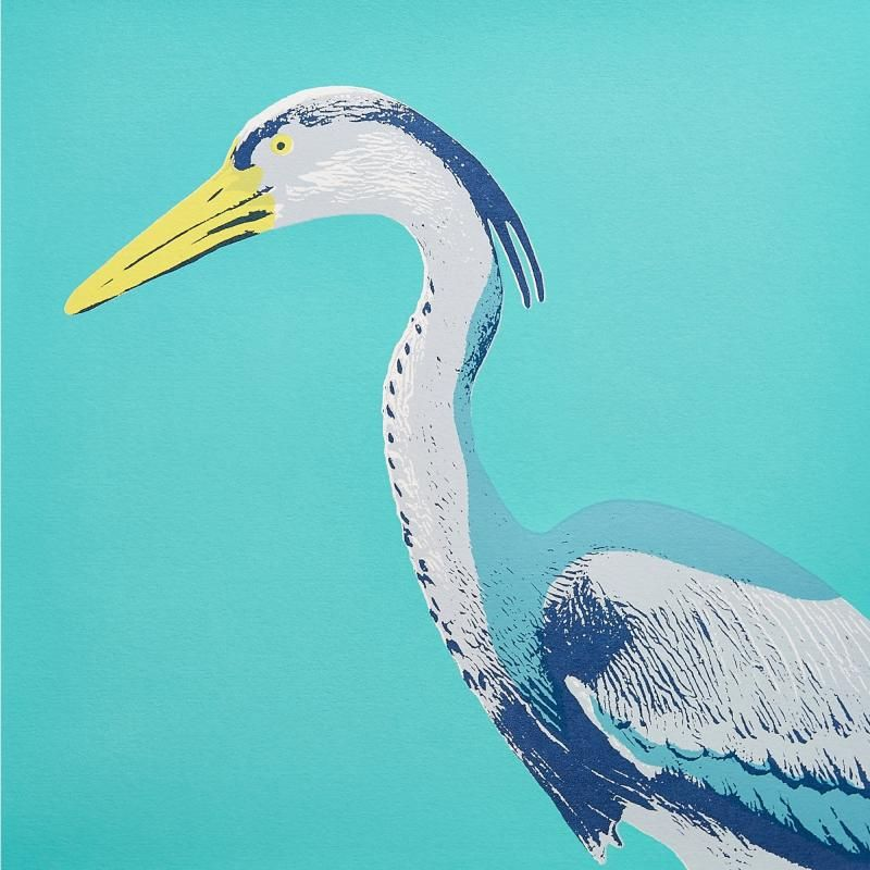 Harold the Heron - Screen Print