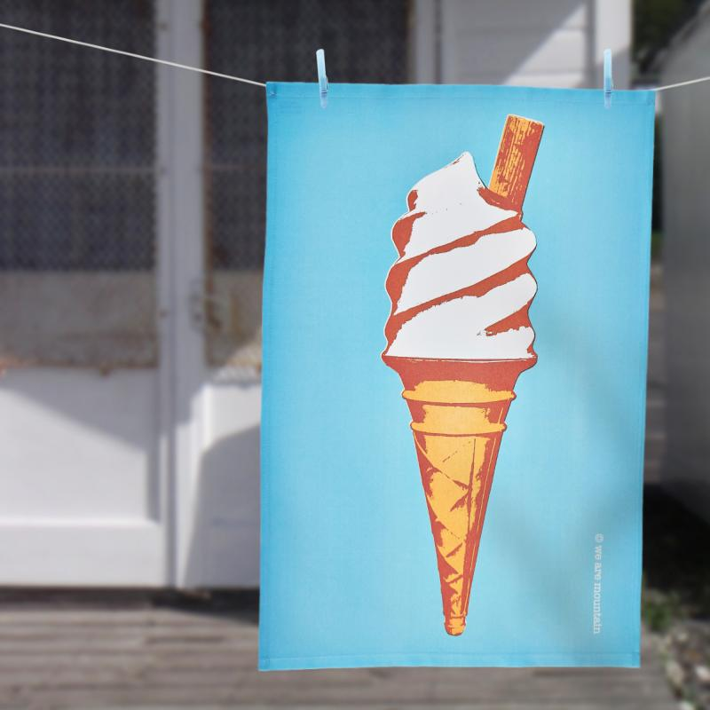 Ice Cream Cone Tea Towel