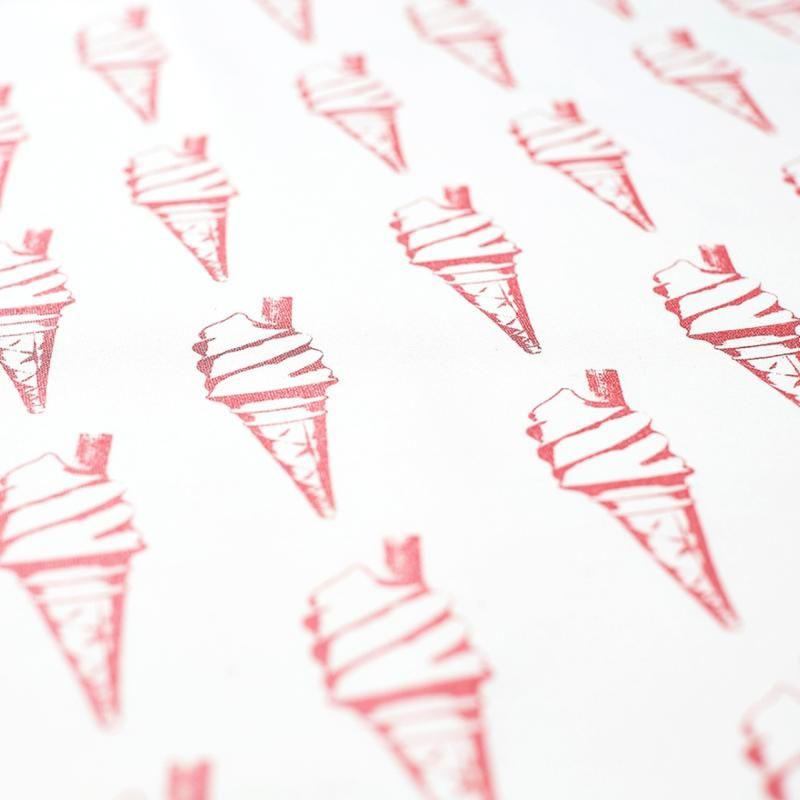 Ice Cream Tea Towel in Pink