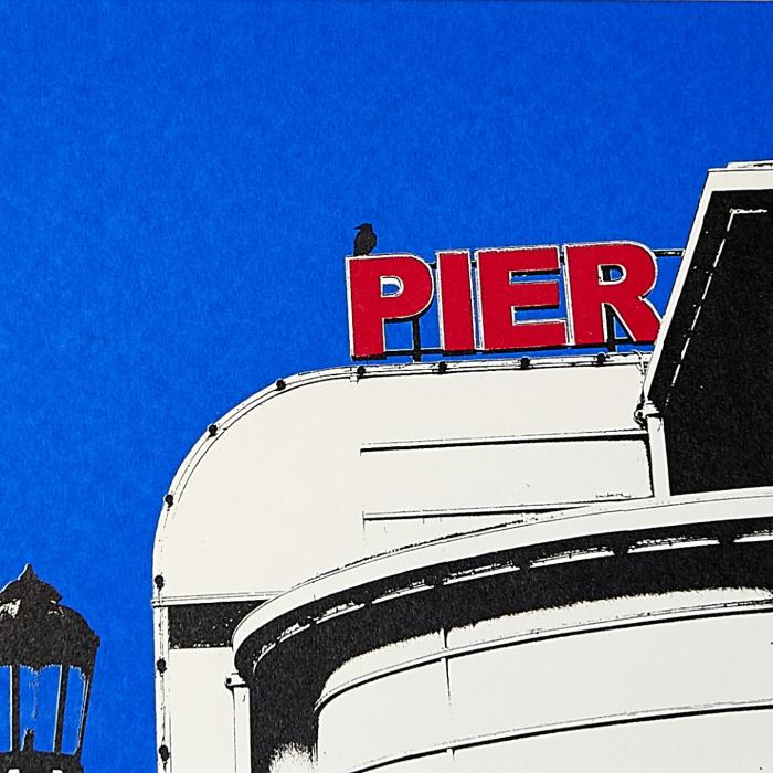 Pier and Crow Print | Ed Watts