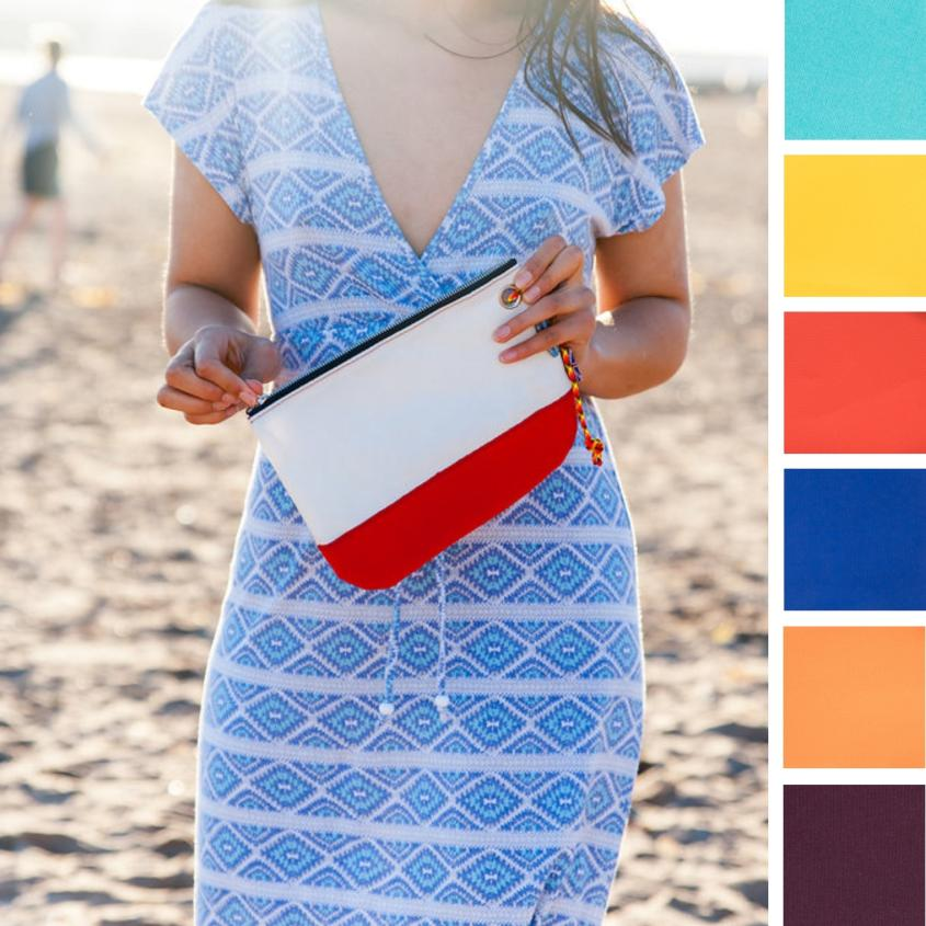 Sailcloth Wristlet Clutch Bag | Recycled Sailcloth