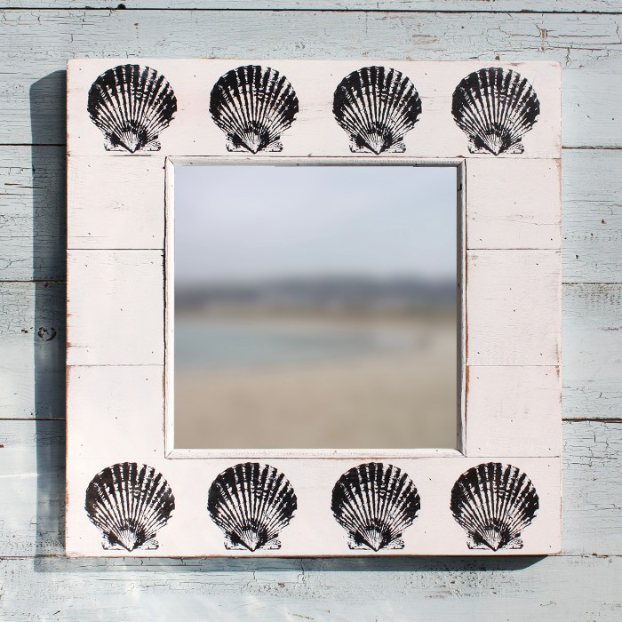 Scallop Shell Mirror | Wall Mirror | Coastal Mirror