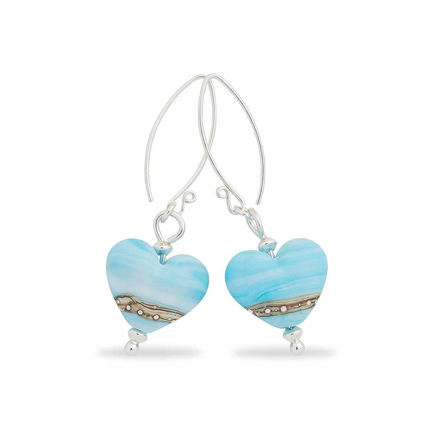 Sea Breeze Heart Shaped Earrings | Julie Fountain