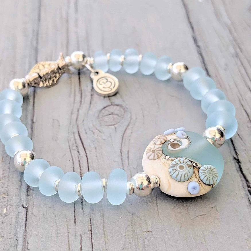 Sea Spray Silver Fish Bracelet | Julie Fountain