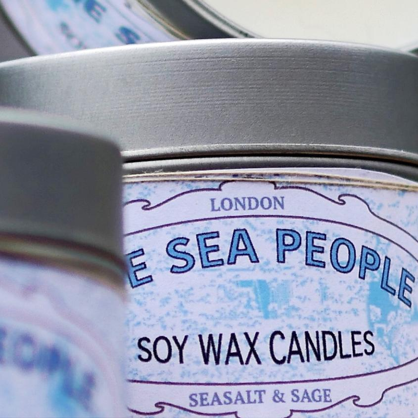 Seasalt & Sage Candle Tin | Soy Wax Candle