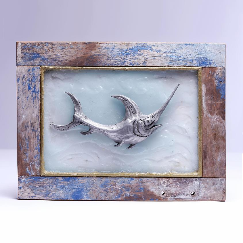 Swordfish Framed Art Aluminium | David Raine