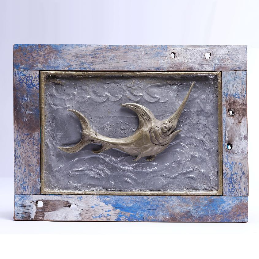 Swordfish Framed Art - Bronze