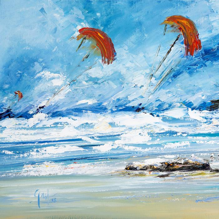 The Kitesurfers – print