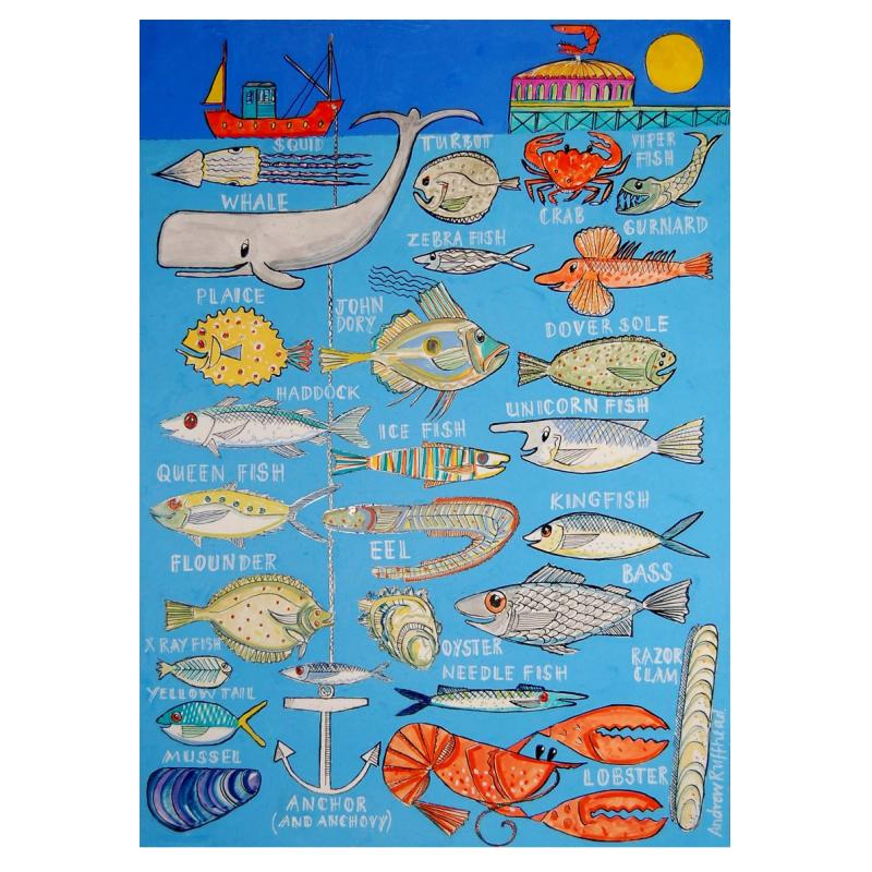 Under the Sea Alphabet  - Signed Print