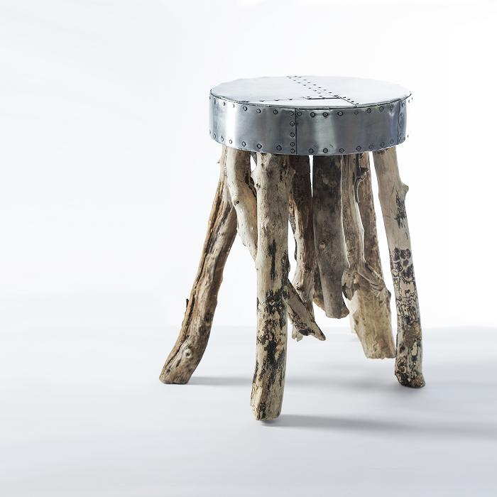 Zinc & Driftwood Side Table