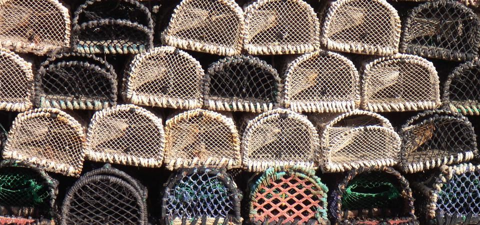 Coastal Beach Bag and Purses Department - image of Lobster Pot stack