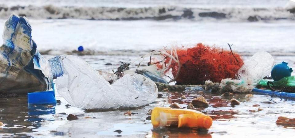 Jimmy Ocean Project Department - image of plastic waste in surf