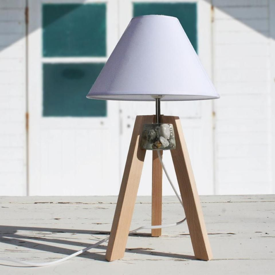 pebble coastal lamp