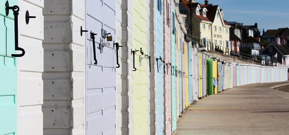 Seaside Style Department - image of colourful beach hut row